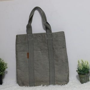 Hermes Two Tone Canvas Fourre Tout Cabas Tote